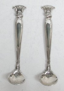Wallace Sterling Salt Spoons X 2