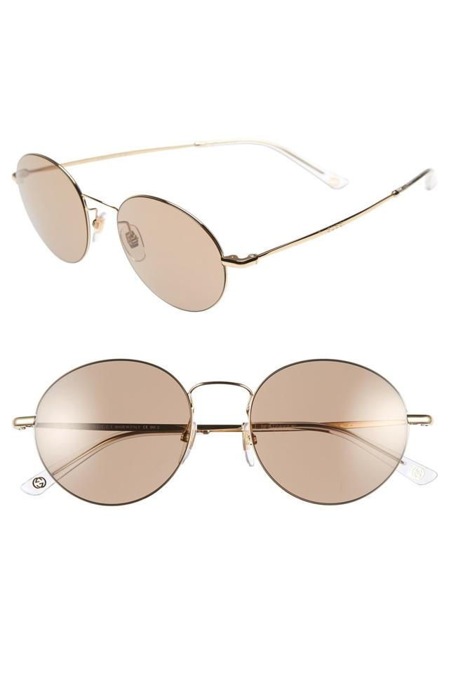 81a9994f61 Gucci Gold Women s 52mm Round Sunglasses - Tradesy
