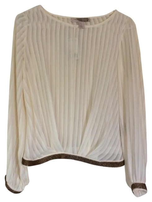 Preload https://item1.tradesy.com/images/forever-21-creme-sheer-stripe-sequins-blouse-size-4-s-1940675-0-0.jpg?width=400&height=650