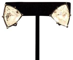 Givenchy Givenchy Black Crystal Clip On Earrings