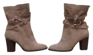 Saks Fifth Avenue Ankle Boot Bootie Boot Suede Smokey Taupe Boots