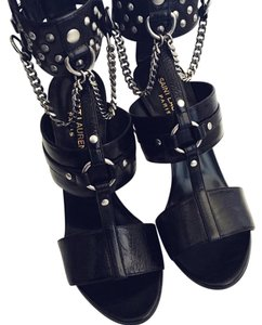 Saint Laurent Studded Ankle Cuff Chained Fetish Sandals