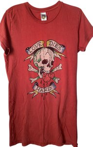 Ed Hardy Skull Large T Shirt Red