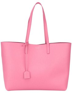 Saint Laurent Large Shopping Tote in indian pink