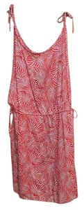 Urban Outfitters short dress Red-Orange Leaf Print Romper on Tradesy