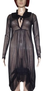 COP. COPINE DRESS Mesh Made In France French Designer Duster Nwt Dress