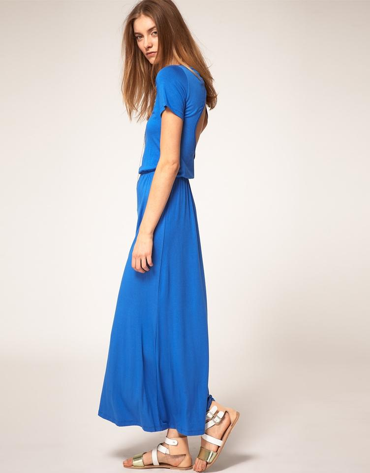 Short LNA Dress Ballet Sleeve Maxi Casual Blue Royal SEEqw4Tg