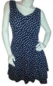 Clifford & Wills short dress Black with white polka dots on Tradesy
