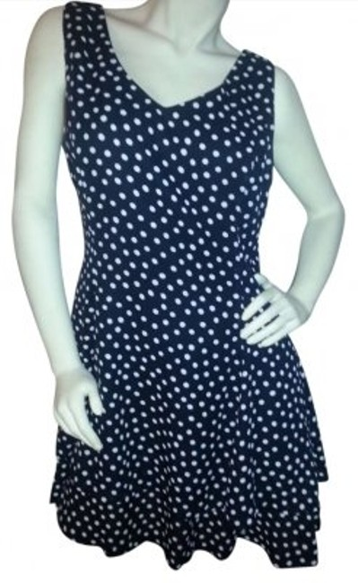 Preload https://item2.tradesy.com/images/clifford-and-wills-black-with-white-polka-dots-fit-and-flair-knee-length-short-casual-dress-size-14--194071-0-0.jpg?width=400&height=650