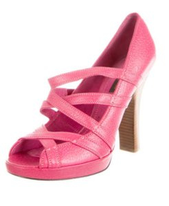 Louis Vuitton Lv Peep Toe Lv Pumps Lv Peebles Leather Pink Sandals