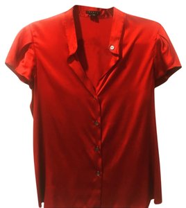 Theory Button Down Shirt Red