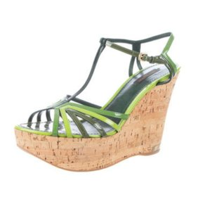 Louis Vuitton Lv Pumps Lv Wedges Lv Wedges Green Sandals