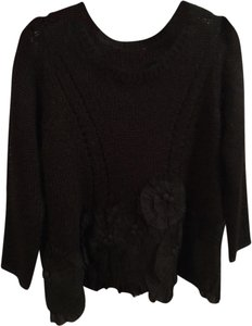 Anthropologie Mohair Wool Flower Applique Sweater