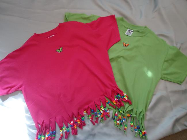 Other T Shirt pink, lime green