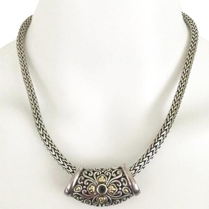 Samuel B. BJC Samuel B Behnman Sterling Silver & 18K Gold Slider Necklace!