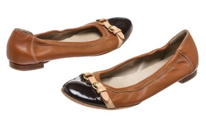 Attilio Giusti Leombruni Tan Brown/Black Flats