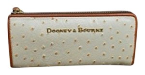 Dooney & Bourke Ostrich Zip Clutch Wallet
