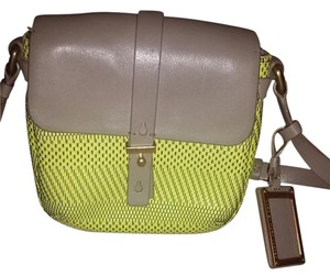 Marc by Marc Jacobs Werdie Weavy Yellow Leather Cross Body Bag