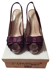 Caparros Mulberry Satin Pumps