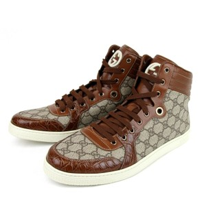 Gucci Men's Gg Plus High-top W/crocodile Trim 13.5g/us 14 D 224778 9779
