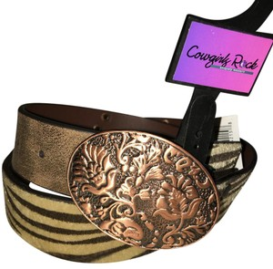 Roper Roper Zebra Print Belt - Leather