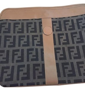 Fendi Brown/tan Clutch