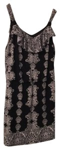 White House | Black Market short dress Black/white Paisley Mid Length Stretchy Fabric Blouson on Tradesy