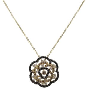 Roberto Coin Roberto Coin 18K Yellow Gold Diamond Flower Pendant Necklace