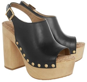 Sam Edelman Wedge Platform Wedges Black Mules