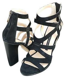 French Connection Black Suede Sandals