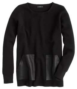 J.Crew Wool Leather Sweater