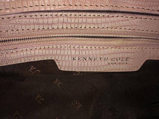 Kenneth Cole Leather Silver Hardware Satchel in Pink