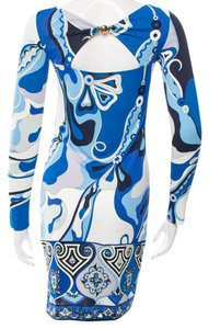 Emilio Pucci Monogram Longsleeve Dress
