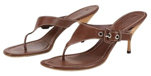 Prada 12552 Mahogany Brown Sandals