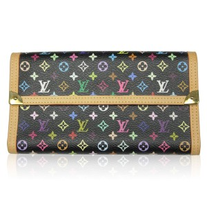 Louis Vuitton Louis Vuitton Porte Tresor Murakami Black Multicolor Wallet