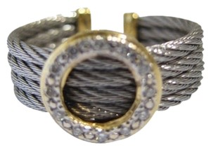 """Charriol Authentic Philiippe Charriole Round """"Classique"""" Diamond Ring"""