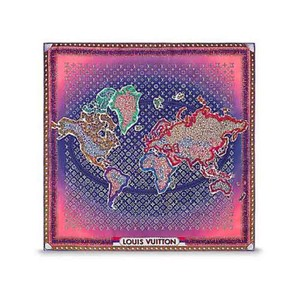 Louis Vuitton *NEW IN BOX*World Map Silk Square M75218