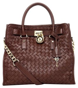 Michael Kors Collection Hamilton Crossbody Tote in Brown