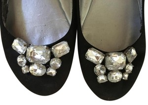 Guess By Marciano Rhinestones Sparkle Black Flats