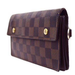 Louis Vuitton LOUIS VUITTON Accordeon Bifold Wallet Purse Damier Leather N60002 Men