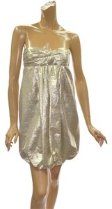 Stella McCartney Metallic Silk Dress