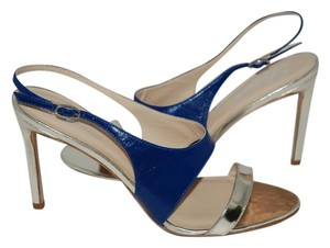 Delman blue/silver Sandals