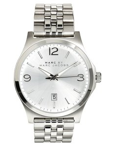 Marc by Marc Jacobs Marc Jacobs Women's Danny Silver-Tone Link Watch MBM5035