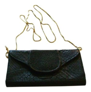 Khirma Eliazov Crocodile Stingray black Clutch