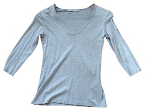 James Perse 3/4 Sleeve Scoopneck T Shirt Gray