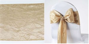 Champagne Colored Chair Sashes
