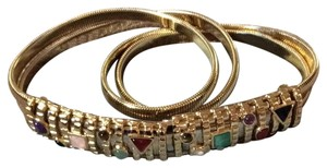 Judith Leiber JL Gold With Jewel Buckle