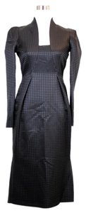 Gucci Wool Houndstooth Neckline Dress