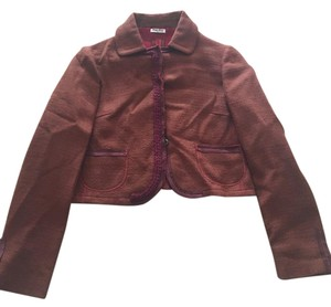 Miu Miu Burnt Red Blazer