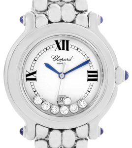 Chopard Chopard Happy Sport Floating Diamond Stainless Steel Watch 278236-3005